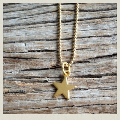 Ketting star (goud)