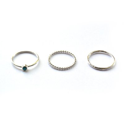 Ring set turkoois