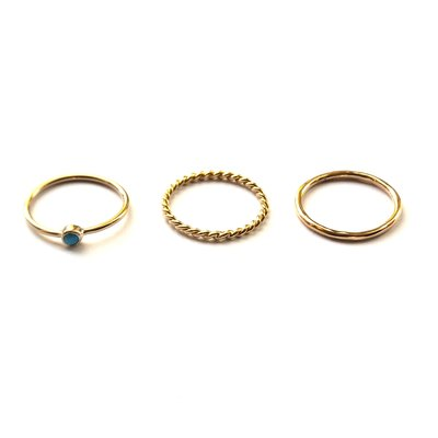 Ringen set turkoois gold