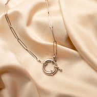 Coco necklace • chunky statement silver