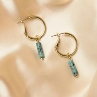 Ela earrings ♡ natural stone turquoise gold