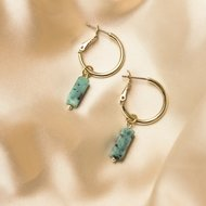 Gemma earrings ♡ natural stone turquoise gold