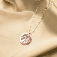 Mare necklace ♡ compass silver