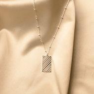 Loua necklace ♡ engraved pendant silver