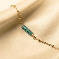 Ela bracelet ♡ natural stone turquoise gold