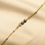 Nora bracelet ♡ natural stone anthracite facets gold