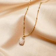 Laura necklace ♡ natural stone marble gold