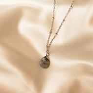 Lynn necklace 🌢 grey stone silver