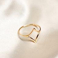 Emily ring ♢ small diamond gold