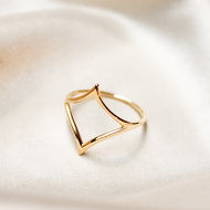Emily ring ♢ big diamond gold
