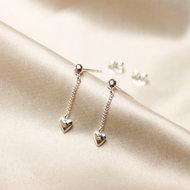 Aimée chain studs ♥ heart silver
