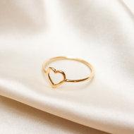 Rosetta ring ♡ fine heart gold