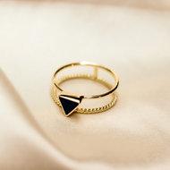 Alanna ring ▲ triangle onyx gold