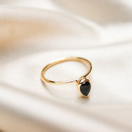 Neptune ring ♆ droplet onyx gold