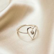 Venus ring ♡ heart moonstone silver
