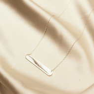 Nova necklace ♡ bar silver