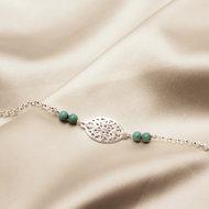 Amrin bracelet ♡ turkoois silver