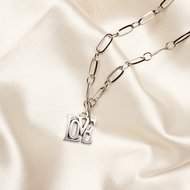 Love necklace ♡ schackle chain silver