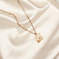 Love necklace ♡ fine chain gold