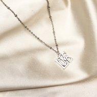 Love necklace ♡ fine chain silver