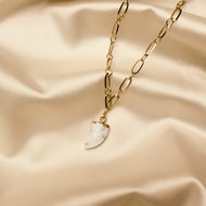 Juniper necklace ♥ marble stone shackle gold