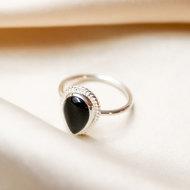 Scarlett ring ♥ onyx silver
