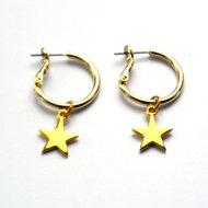 Creolen goud ster